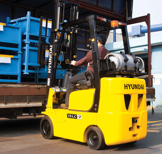 Cushion Forklifts, Propane Rental Forklifts