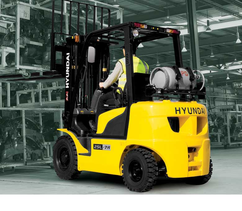 Hyundai 7A Series Pnematic Tire Forklifts