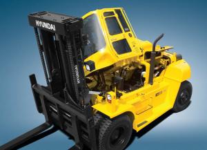 hyundai forklift, tilting forklift cab, easy maintenance