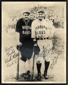 Babe Ruth and Lou Gehrig after the world series