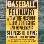 Baseball Reiquary poster