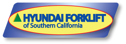Rent a forklift from Hyundai Forklift of Southern California logo