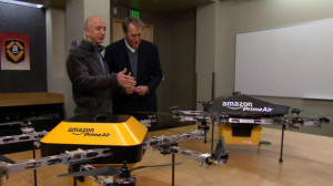 "Jeff Bezos shows Octocopter to Charlie Rose of ""60 Minutes"""