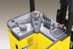 Reach truck controls
