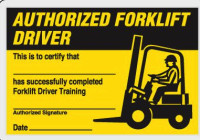 Skilled forklift operators wallet card