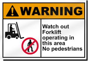 Do forklift accident statistics shock you?  Warning: forklift area, no pedestrians