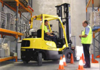 Hands on forklift safety training